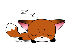 Charolique Kawaii Sleeping Fox by Charolique