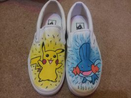 Pokemon Shoes Front View by peacockhunter