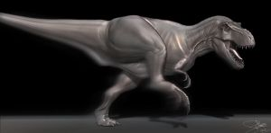 T-Rex - 3D Model WIP by FoxHound1984
