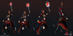 Fire Mage design 3D by iEvgeni