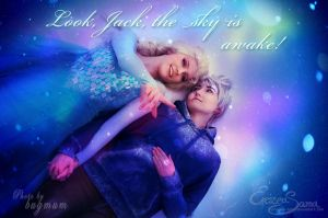 The sky is awake! - Jack and Elsa Cosplay by Eressea-sama