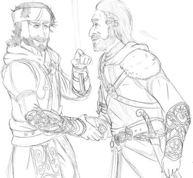 Yusuf and Ezio by Stronglenhead