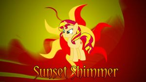 MLP Sunset Shimmer Wallpaper by DaChosta