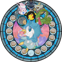 ~Stained Glass~ Sora's (Piplup) Heart by YukiMemories