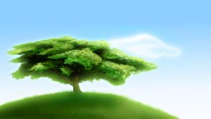 anime style background - tree by Enigma-XIII