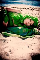FF4: Rydia on the Beach by Perzypoo