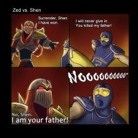 LOL: Zed vs. Shen by phsueh