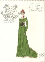 Gala Gown Concept Sketch by EmeraldRose3