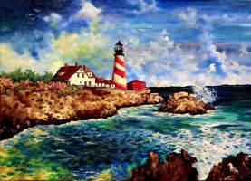Maine Lighthouse by AestromArtwork