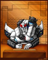 Prowl is trying to work by WaywardInsecticon