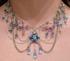 Aqua kh bbs inspired choker by Crimson-rose-x