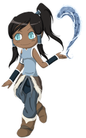 Chibi Korra by Featherwolf-Pluma