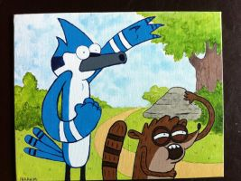 Mordecai and Rigby by The-Iby