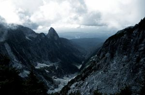 Looking at Blanshard Needle from Golden Ears by Westcoastspirits