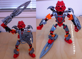 MOC Tahu Nuva w/ New Sword and Shield by HaroldPotter