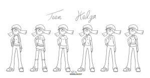 Teen Helga - concept art by UrielManX7