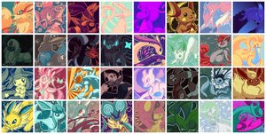 Palette Pokemon [Icon Pack] by FallenZephyrArt