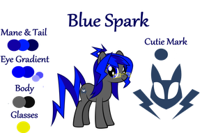 Blue Spark OC Reference Sheet by Lt-Fleur