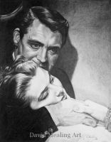 Cary Grant and Ingrid Burgman by Drawing-Dude-Dave