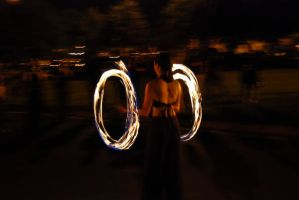 Parking Lot Fire Dancer 2 by Andashd