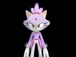 Sonic 06 Blaze for MMD by Sticklover4