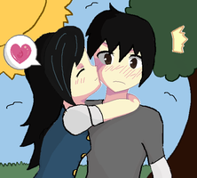 AT: One moar kiss, plz? by TroublesomeGnome