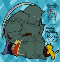 Alphonse and Kitties -Colored- by Khiorii