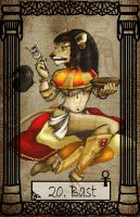 Mythology Tarot Bast by TheBlindProphetess