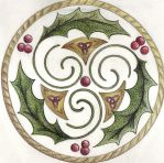 Reverse Holly Trisk by Spiralpathdesigns
