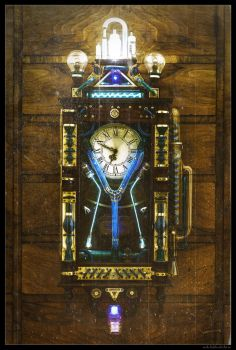 Steampunk Flux capacitor by Zackary