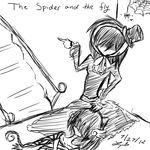 The Spider and The Fly by freckle-doll