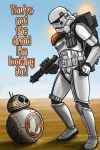 Star Wars Sandtrooper and BB-8 by Robert-Shane