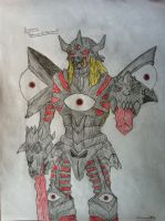Duskmon Drawing by Omnimon1996