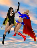 superwoman vs. supergirl by cattle6