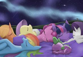 Nap with the stars by MrIcantdraw