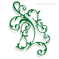 Vector Floral Ornament by 123freevectors