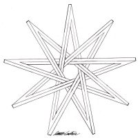 Nine Pointed Impossible Star by TheCelticPoet