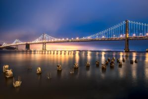 San Francisco, Bay Bridge guards 2 by alierturk