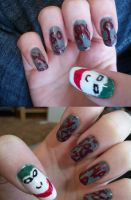 Joker Nails by QueenAliceOfAwesome