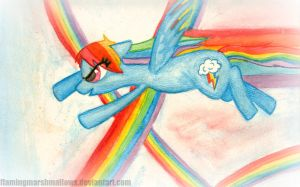 Raindow Dash by flamingmarshmallows