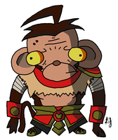 Invader Wukong by Ysterath