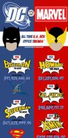 Marvel vs DC (Infographic) by agondeviant