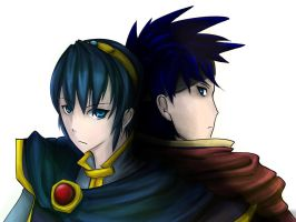 Marth and Ike by Cykitty