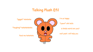 talking Plush Efil by efilvega