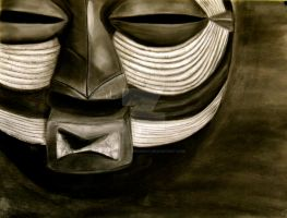 African Mask by palebluedotresident