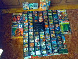 My old Megadrive collection by MushroomRaccoon