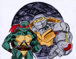 Raph + Metalhead by IronLion82 by Kenkira