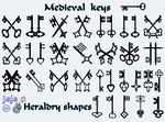 Medieval keys  Heraldry shapes by jojo-ojoj