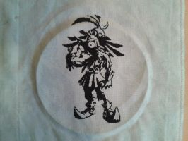 Cross stitch Majora's Mask WIP by Magairlin89