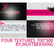 4 lyric textures by mustbekiding